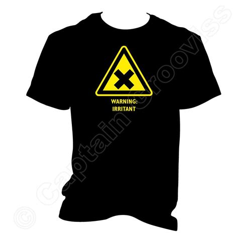 Wpap Hazard 1 T Shirt irritant chemical symbol laboratory hazard warning sign t