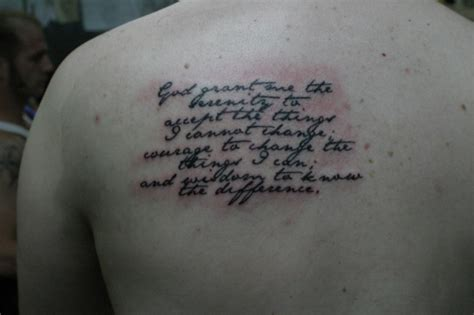 what does a tattoo on your shoulder blade feel like 30 devoted serenity prayer tattoos creativefan