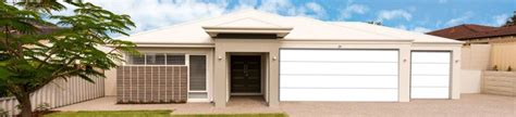 perisher white steel  garage doors
