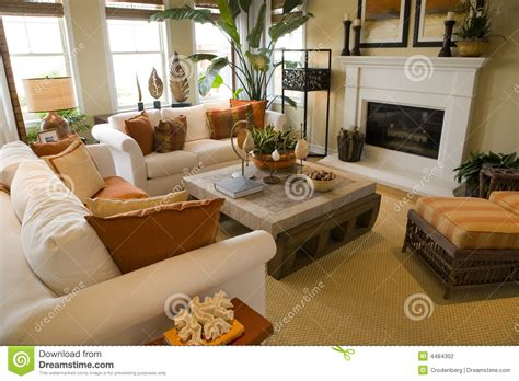 homey living room luxury home living room stock photography image 4484302