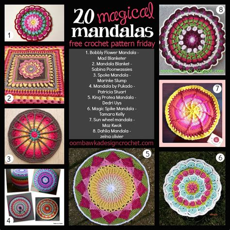 mandala pattern youtube 20 free magical mandala patterns oombawka design crochet