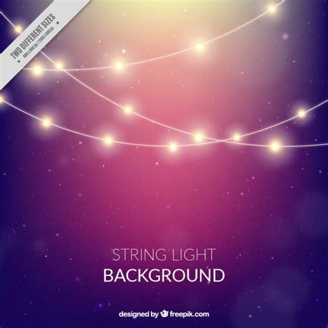 light on string bokeh background of string lights vector free