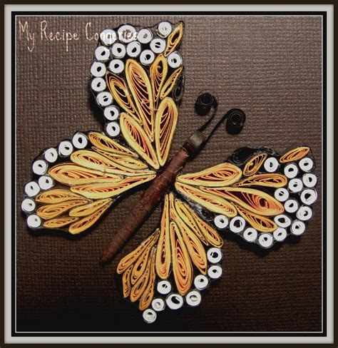 tutorial quilling butterfly my recipe congeries my first quilled butterfly quilling