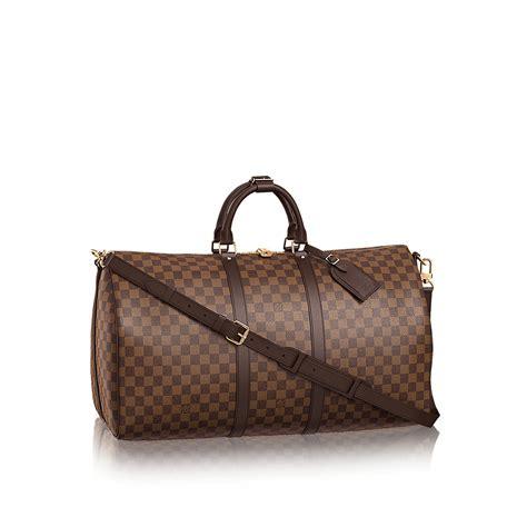 Koper Travel Bag Lv keepall bandouli 232 re 55 damier ebene canvas travel
