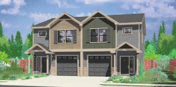 duplex plans bedroom plan house corner lot