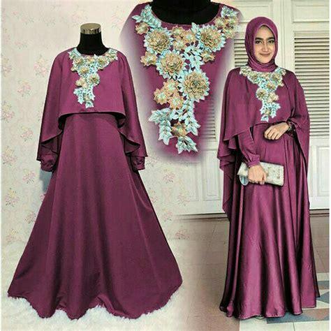 Produk Baru Gamis Balotelli Polos Fashion Muslimah jual dress pesta bordir bunga baju wanita baju muslim