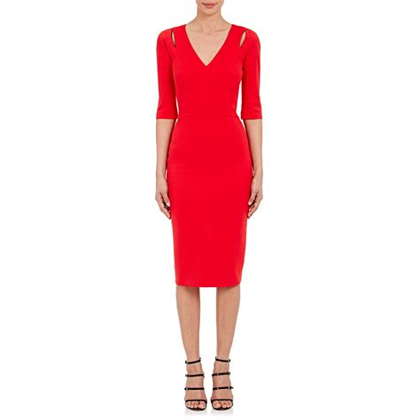 Beckham Sell Outs A Dress Before It Hits The Shop Floor by Beckham Cutout Sheath Dress In Green Lyst