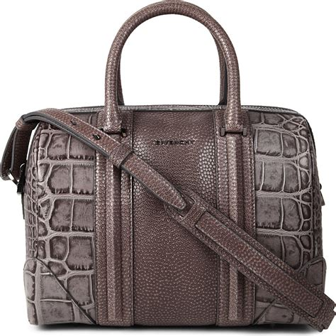 Crocodile Pedro Brown givenchy lucrezia medium animal embossed leather bowling