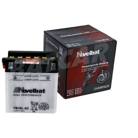 Motorrad Batterie Yb10l A2 by Novelbat Yb10l A2 12v 11ah Batcar De Shop