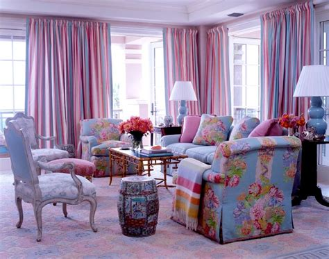 Living Room Blue Pink Colorful Pink And Blue Living Room Room Decor And Design