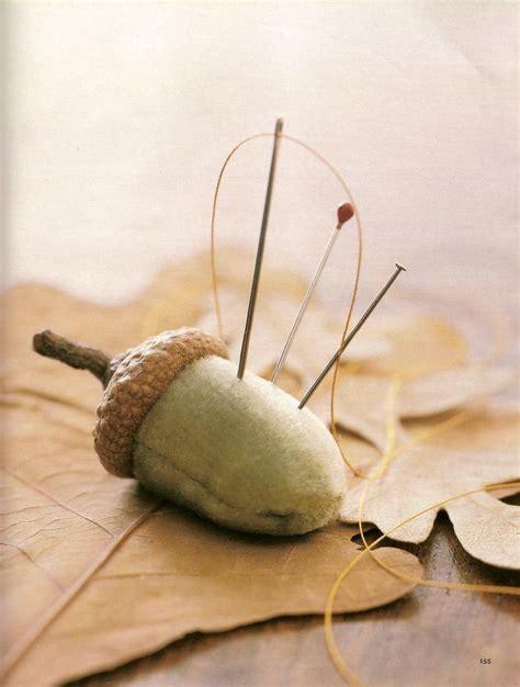 cute acorn pattern cute pincushion pattern ideas