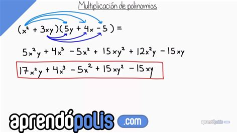 suma y resta de polinomios multiplicacin de polinomios y divisin multiplicaci 243 n de polinomios youtube