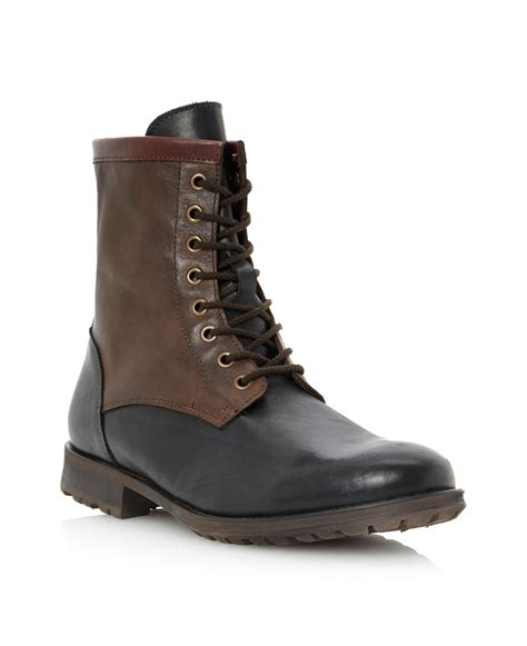 dune boots dune crumble back quarter boots in brown for