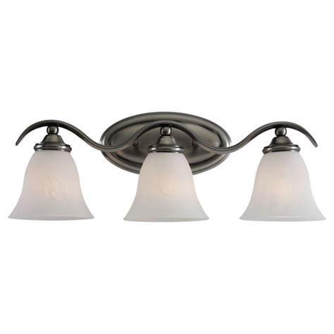 Sea Gull Lighting Rialto 3 Light Antique Brushed Nickel 3 Light Brushed Nickel Vanity Fixture