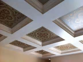 gorgeous stenciled coffered ceiling with modello 174 designs
