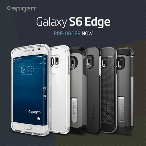 Samsung S6 Spigen Cover Samsung Casing Galaxy spigen s galaxy s6 edge cases now available for pre order renders show front view