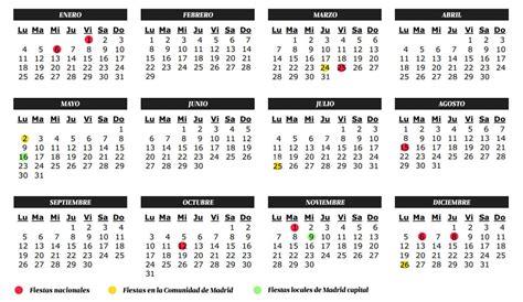 L Calendario 2016 Vacaciones Calendario De Fiestas 2016 En La Comunidad De