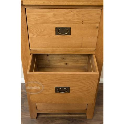 vancoouver rustic oak 3 drawer filing cabinet best price