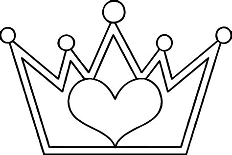 heart crown coloring page shopkins crown coloring pages collections shopkins
