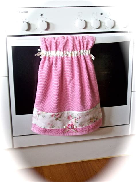 shabby chic pink hanging towel  picture shows  gorgeo flickr