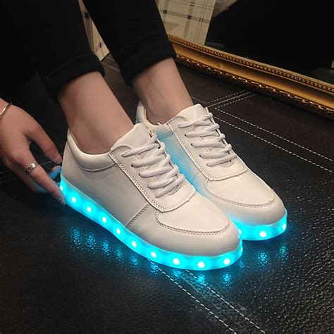 big size 2015 fashion light up casual shoes usb