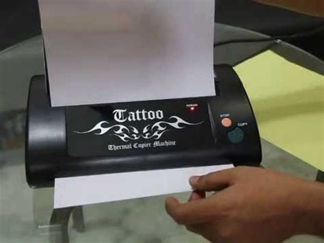 tattoo thermal printer youtube how to use thermal copier for tattoo youtube