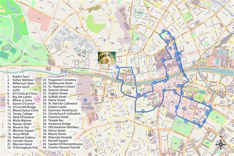 map of dublin maps update 21051488 dublin tourist attractions map