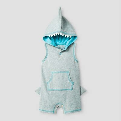 Shark Romper baby boys shark shorts romper with cat