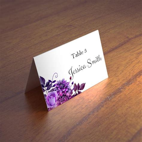 Place Name Cards Template by Custom Card Template 187 Place Name Cards Template Free