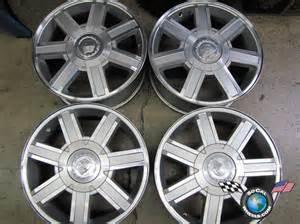 Factory Cadillac Rims 07 10 Cadillac Escalade Esv Factory 18 Wheels Rims Oem Ebay