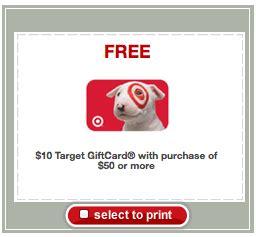 Target Buy 50 Get 10 Gift Card - target buy 50 get a 10 gift card money saving mom 174