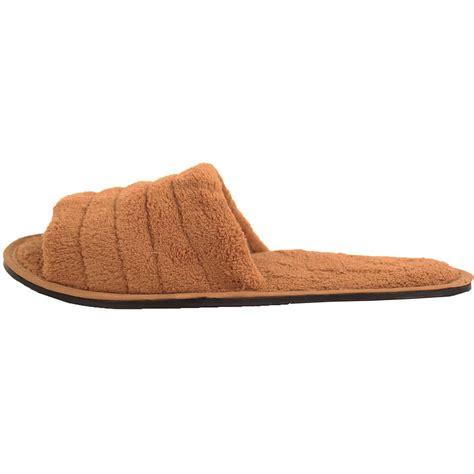 mens open toe slippers mens slippers open toe house shoe slip on scuff bath soft