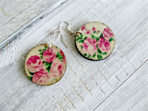 Decoupage Jewelry - decoupage earrings decoupage