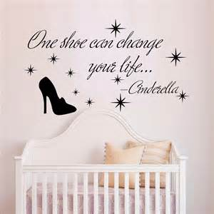 Cinderella Wall Stickers Wall Decals Quote Cinderella One Shoe Can Change Your Life