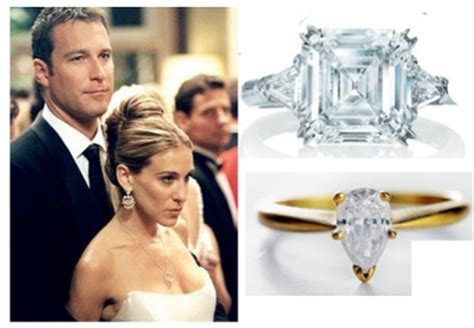 carrie bradshaw wedding ring fictional diamonds are a s best friend