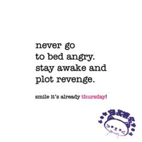never go to bed angry quotes never go to bed angry stay awake and plot revenge funny