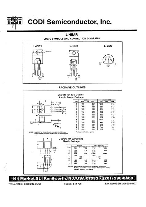 linear integrated circuits and design pdf 78l15 datasheet datasheets manu page 1 linear integrated circuits 3 terminal volatge regulators