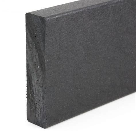 buy recycled plastic narrow edging plank black mm