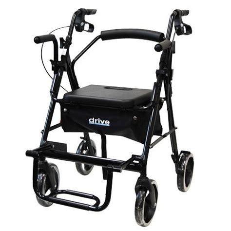 Drive Duet Rollator Transport Chair - drive duet transport chair rollator