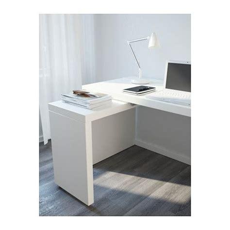 escritorio ordenador ikea malm escritorio con tablero extra 237 ble blanco ikea