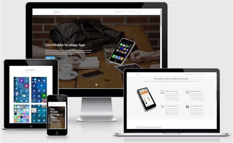 app layout builder app landing page layout for divi builder