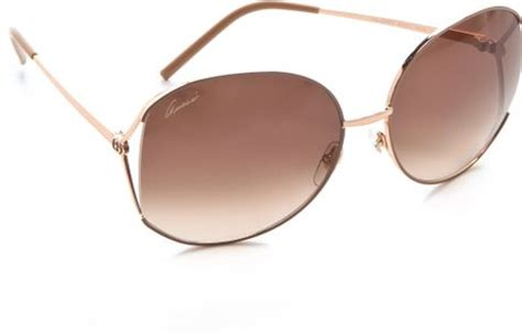 Gucci G0119 Browb Rosegold gucci glam metal frame sunglasses in gold brown gradient lyst