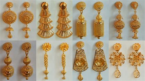 light weight gold earrings designs with price gold earrings designs with weight and price
