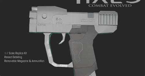 Pistol Papercraft - halo m6d pistol papercraft papercraft paradise