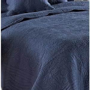 Blue Coverlet Slate Denim Blue Matelasse Quilt Coverlet Set Polyvore
