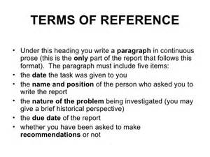Terms Of Reference Template by Terms Of Reference Planopedia