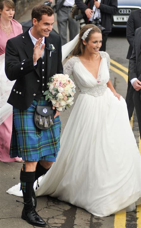 andy murray wedding andy murray gets married in scottish kilt