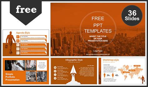 City Of Business Man Powerpoint Template Powerpoint Templates Size Of Slides