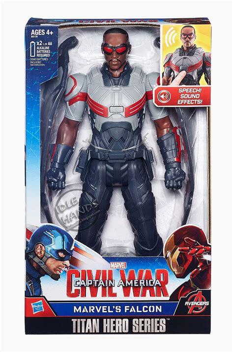 Hasbro Marvel Legends Civil War Series Falcon fair 2016 hasbro marvel captain america civil war electronic titan series figure falcon