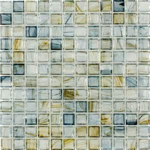 shop elida ceramica glass mosaic celestial blue glass mosaic square indoor outdoor wall tile